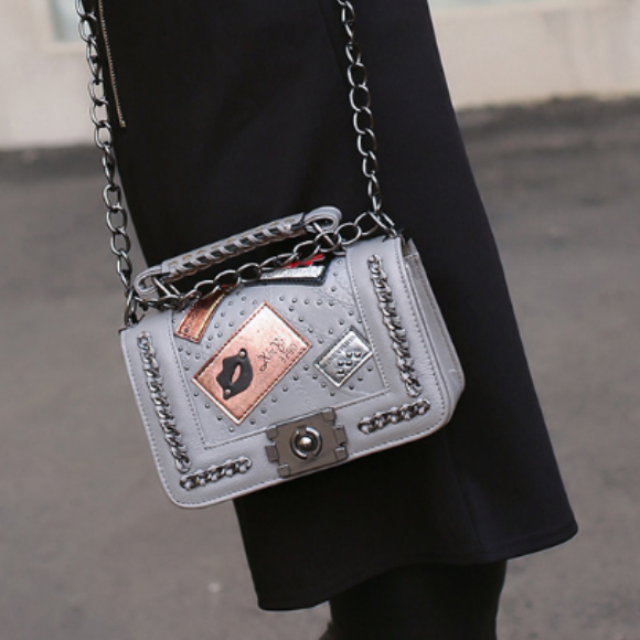 Patched Shoulder Bag