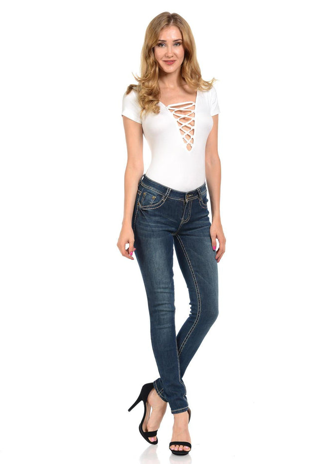 Sweet Look Premium Edition Women's Jeans - Push Up - Style N3142-Shopvoypa