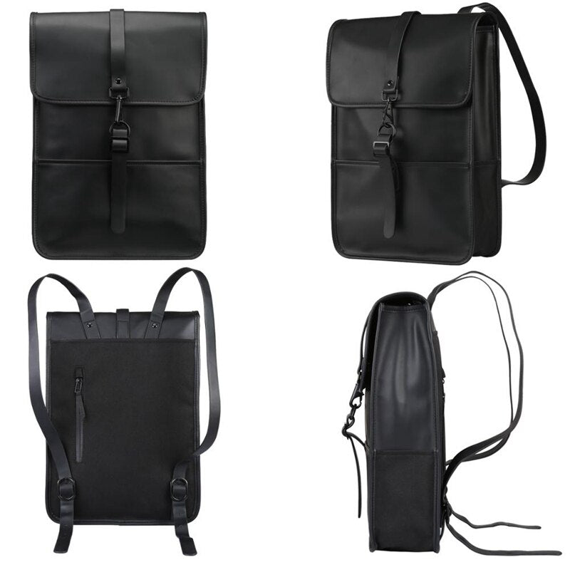 Waterproof PU Leather Backpack - FashionKila.com