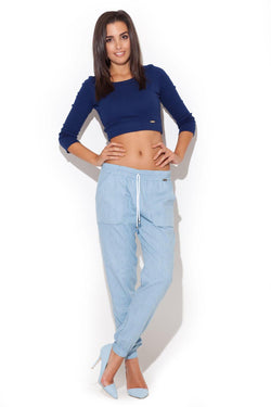 Sky Blue Katrus Pants&Leggings - FashionKila.com