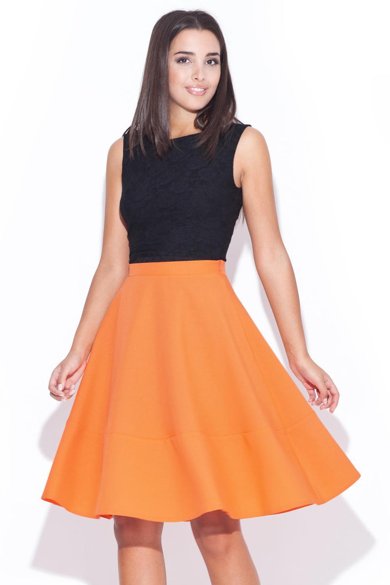 Orange Katrus Skirts - FashionKila.com