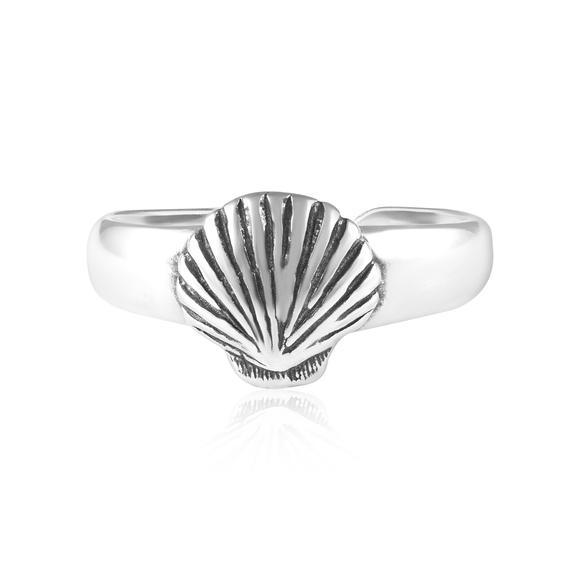 Seashell Sterling Silver Toe Ring - FashionKila.com