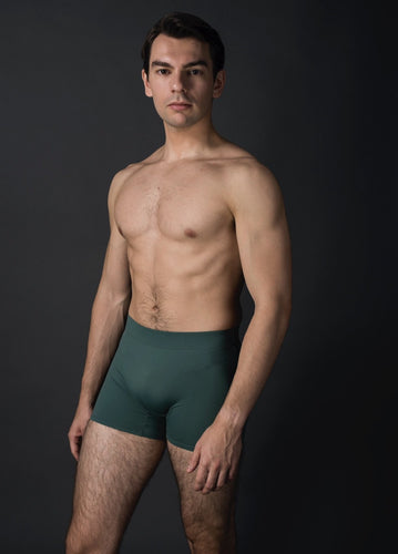 unisex dance short green