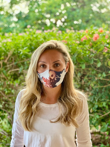 Eco-friendly Reversible Face Mask - Fall Floral & Maroon
