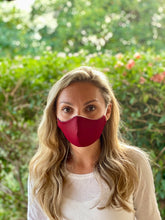 Load image into Gallery viewer, Eco-friendly Reversible Face Mask - Fall Floral & Maroon