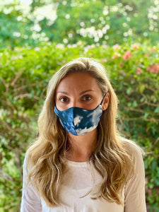 Eco-friendly Reversible Face Mask - Tie-dye & Midnight Blue