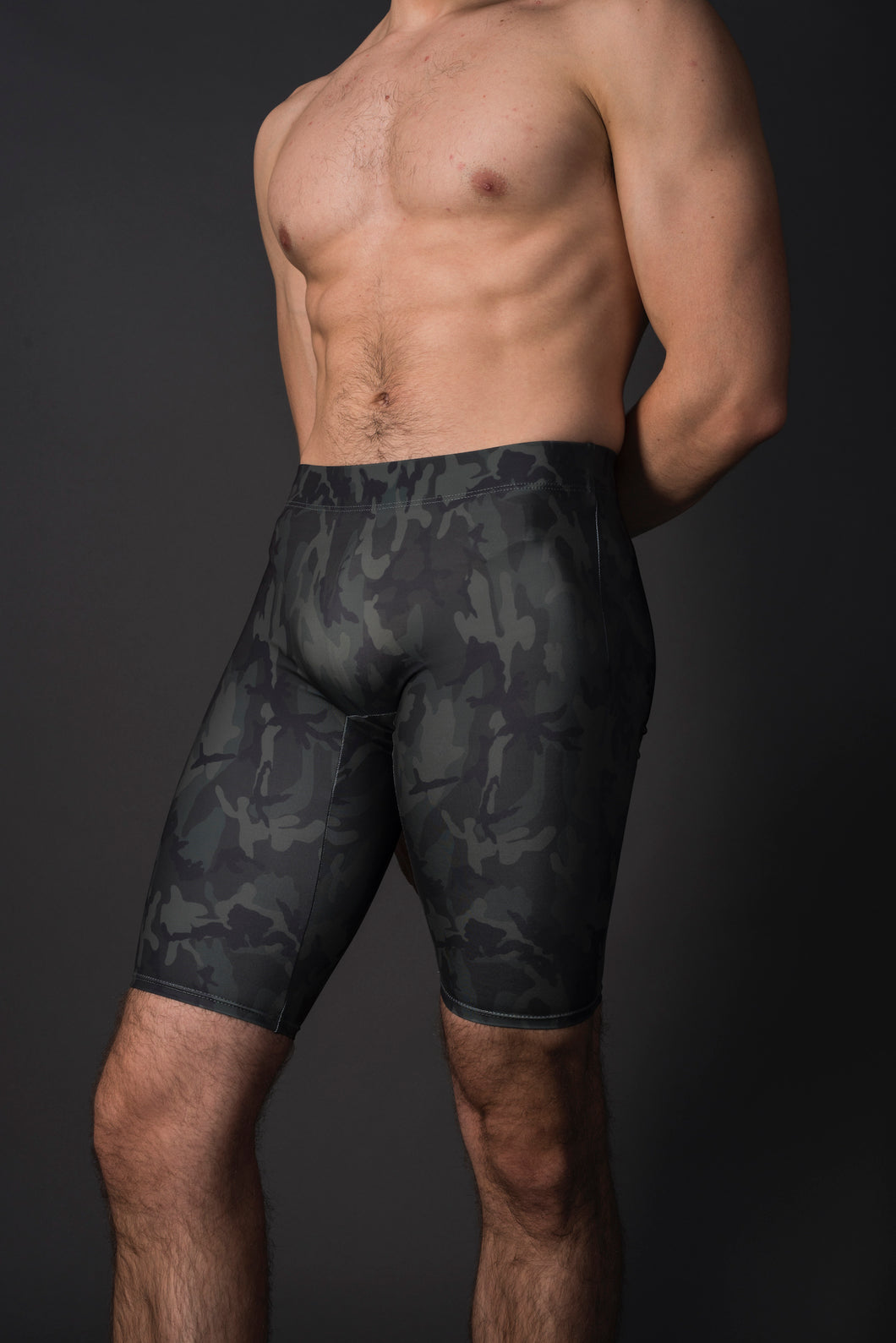 unisex long dance short camo