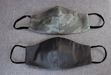 Load image into Gallery viewer, Eco-friendly Reversible Face Mask - Black and Camo