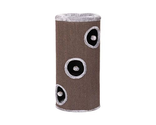 ALL PET 3 LEVEL TUBE SCRATCHER - GREY