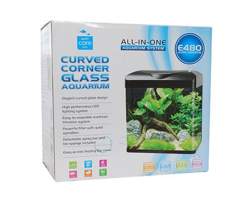 Load image into Gallery viewer, CURVED CORNER GLASS AQUARIUM