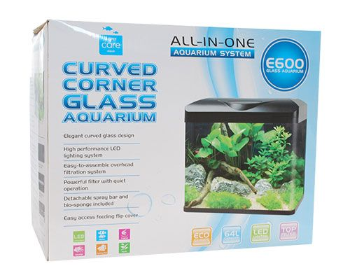 CURVED CORNER GLASS AQUARIUM