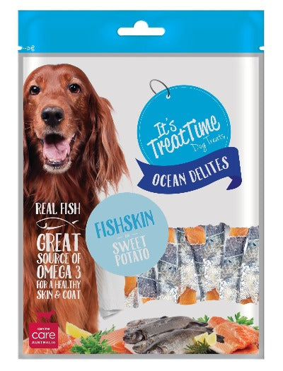 ITS TREAT TIME - FISHSKIN & SWEET POTATO