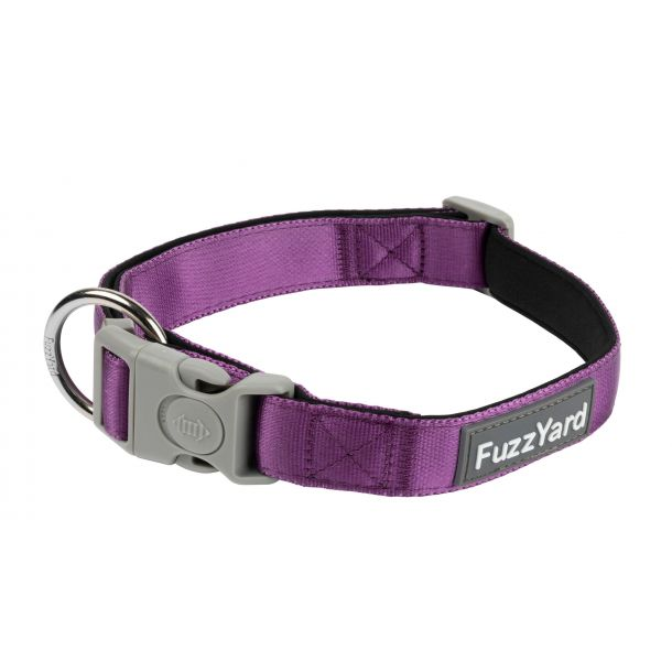 FUZZYARD DOG COLLAR - GRAPE