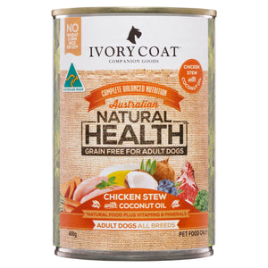 Load image into Gallery viewer, IVORY COAT WET DOG FOOD CHICKEN STEW - 400G