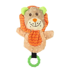 PUPPY SNUGGLE FRIENDS LION W/ TEETHING RING