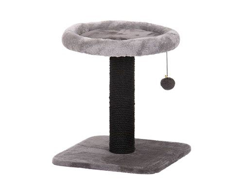 ALL PET SMALL SCRATCHING POST W/ BED - GREY