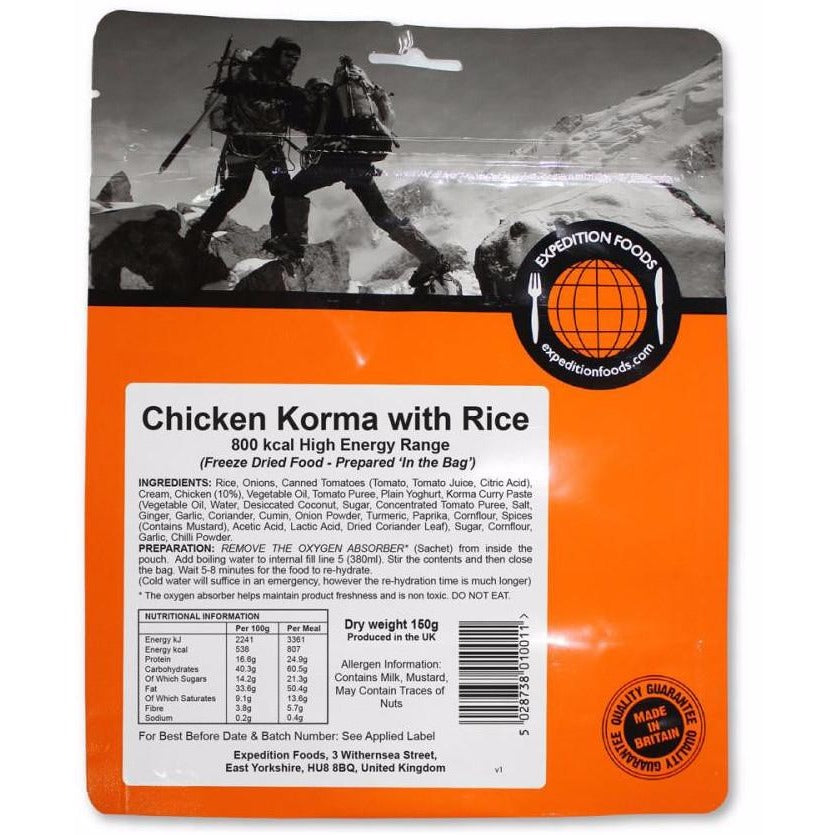Expedition Foods Chicken Korma with Rice (High Energy)