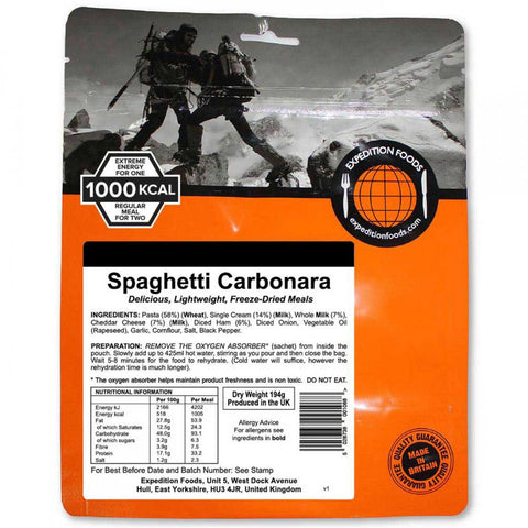 Expedition Food Spaghetti Carbonara (1000Kcal)