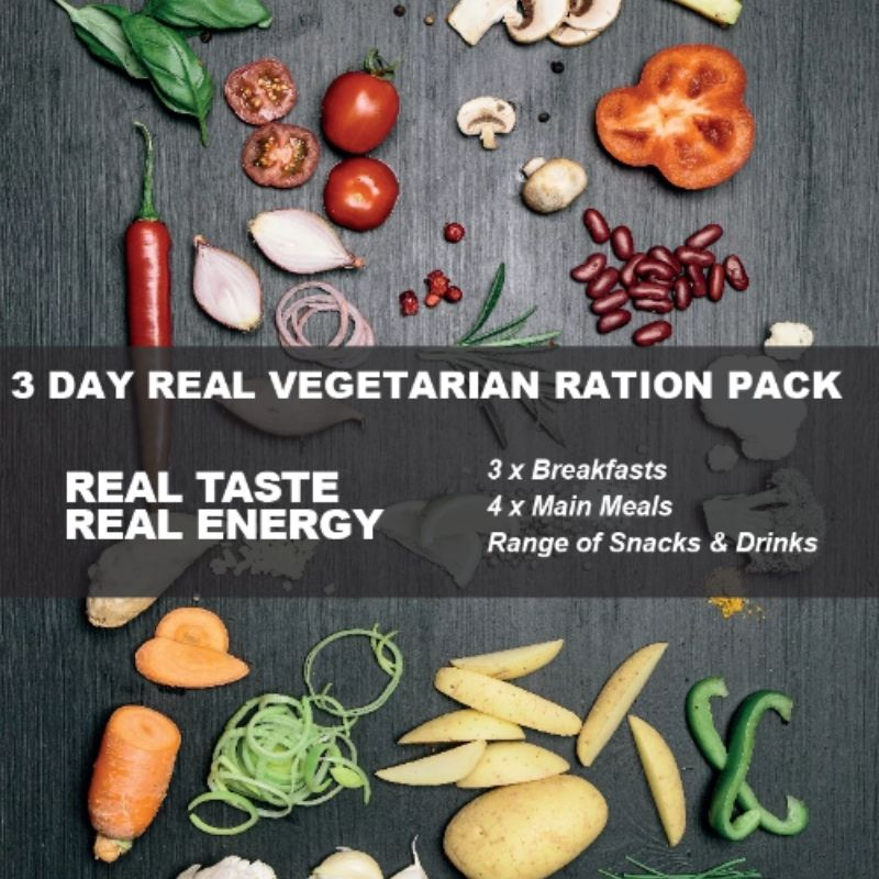 Real Turmat 3 Day Vegetarian Ration Pack