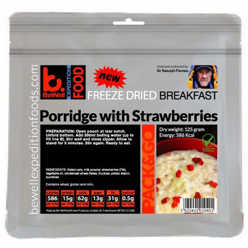 BeWell Expedition Food Porridge with Strawberries