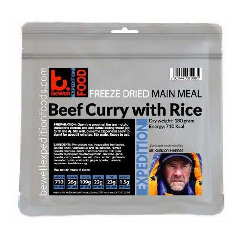 BeWell Expedition Food Beef Curry With Rice