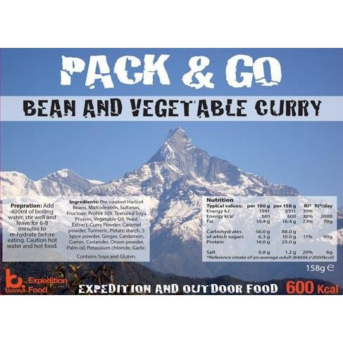Pack & Go Bean and Vegetable Curry
