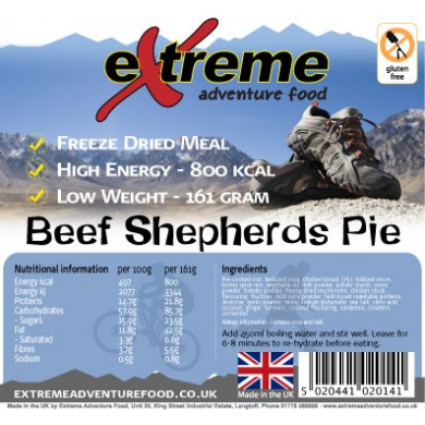 Extreme Adventure Food Beef Shepherds Pie
