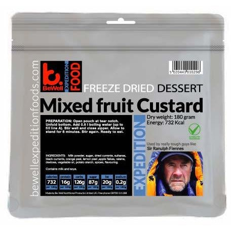 BeWell Expedition Food Custard with Mixed Fruit