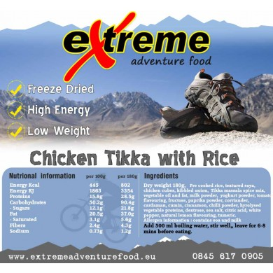Extreme Adventure Food Chicken Tikka Masala