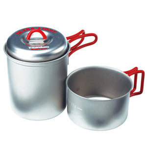 Evernew Titanium Ultralight Cookware Stacking Solo Pot Set (0.4L & 0.75L)