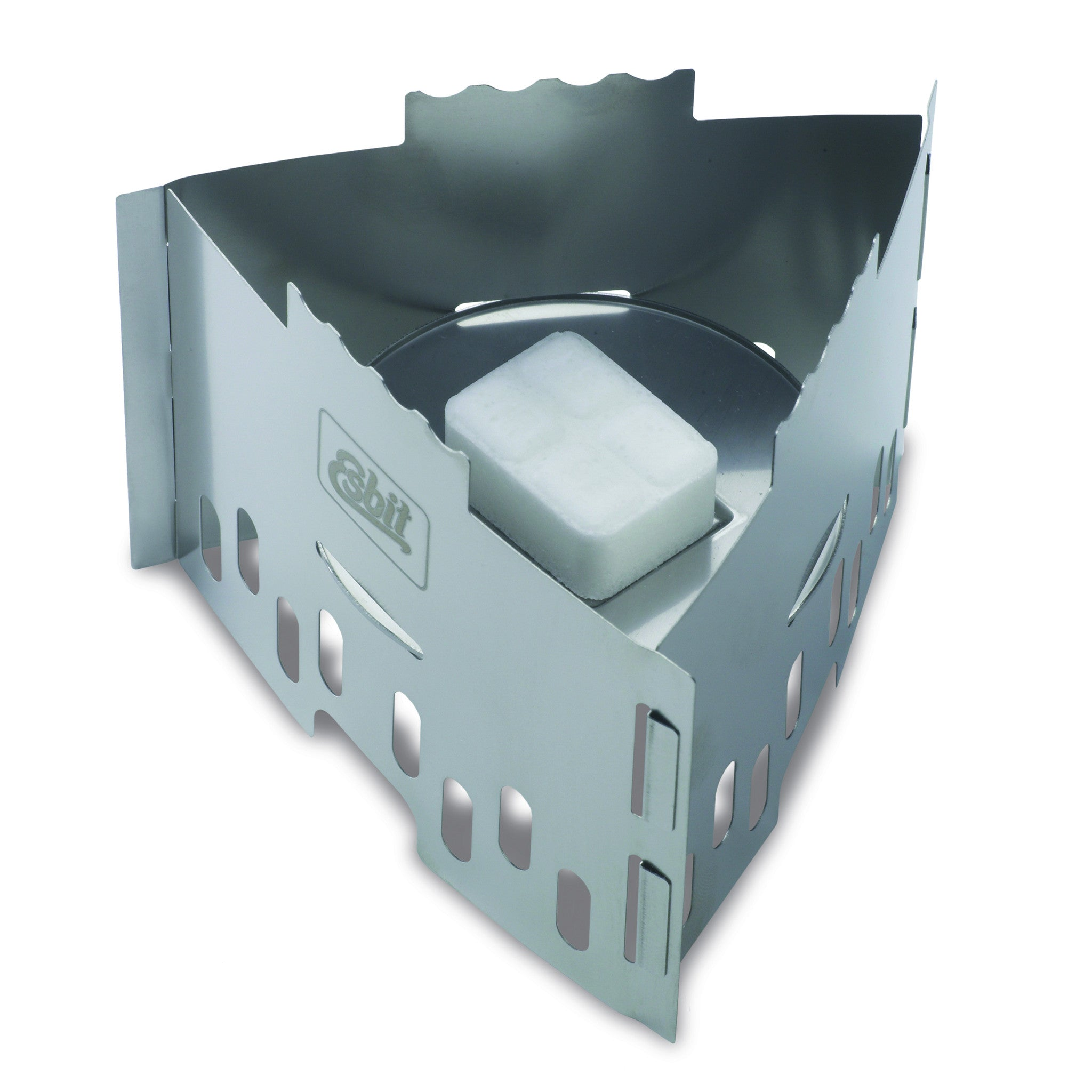 Esbit Stainless Steel Solid Fuel Stove, lightweight camping equipment