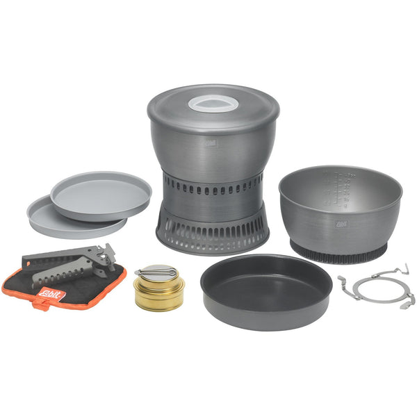 Esbit Hard Anodised Cookset With Alcohol Burner