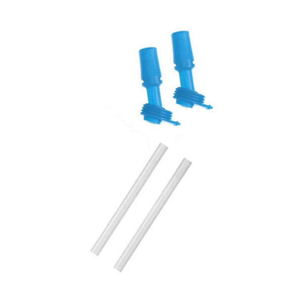 Two replacement bite valves and two straws for the eddy® Kids' Bottle.