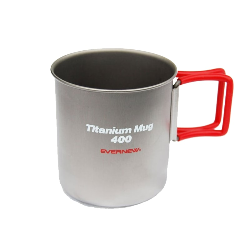 Evernew Titanium Mug 400 (Red Handle) 2