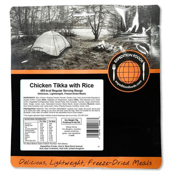 Expedition Food Chicken Tikka with Rice