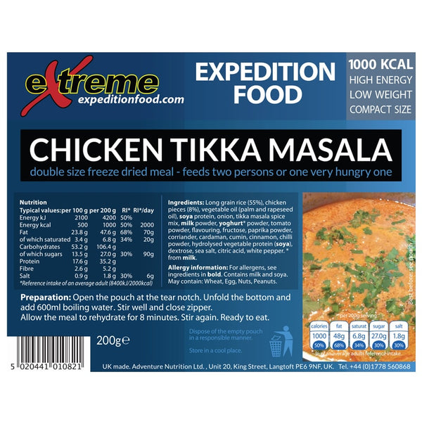 Extreme Expedition Chicken Tikka Masala - 1000 Kcal