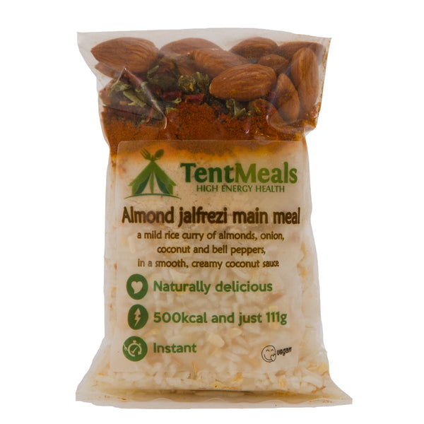 TentMeals Almond Jalfrezi main meal - 500 kcal