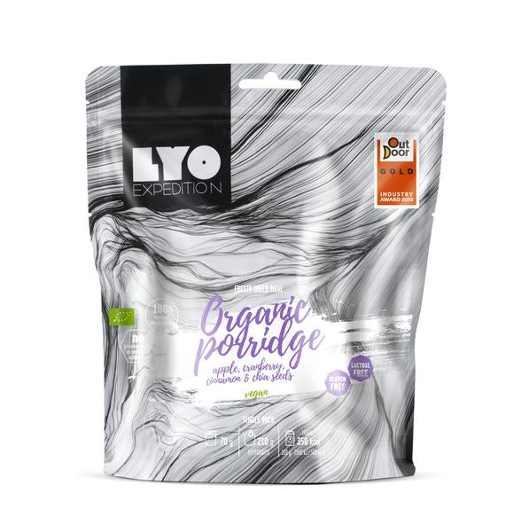 LYO Expedition Organic Porridge with Apple, Cranberry, Cinnamon and Chia Seeds