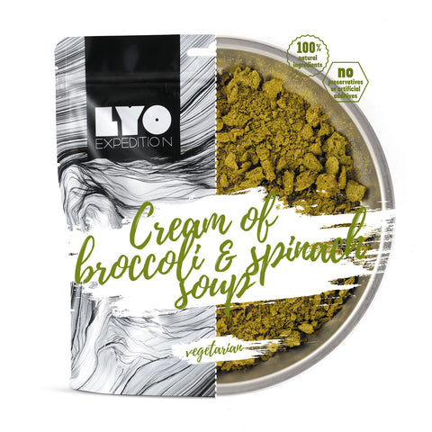 LYO Cream of Broccoli & Spinach Soup