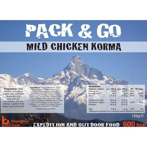 Pack & Go Mild Chicken Korma