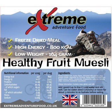 Extreme Adventure Food Healthy Fruit Muesli