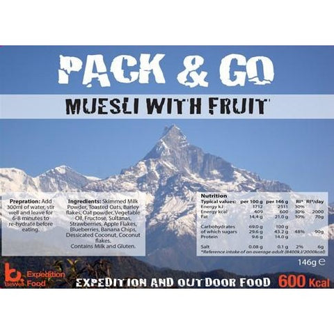 Pack & Go Muesli with Fruit