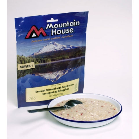 Mountain House Smooth Oatmeal with Raspberries