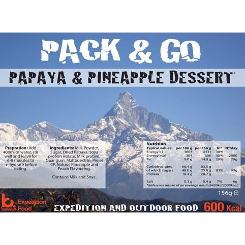 Pack & Go Papya & Pineapple Dessert