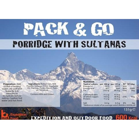 Pack & Go Porridge with Sultanas