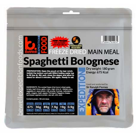BeWell Expedition Spaghetti Bolognese