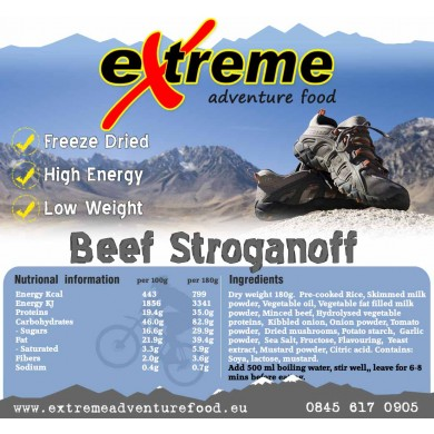 Extreme Adventure Food Tasty Beef Stroganoff