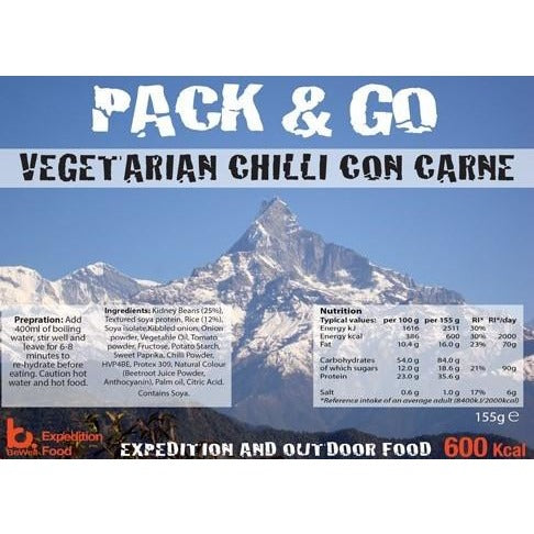 Pack & Go Vegetarian Chilli Con Carne