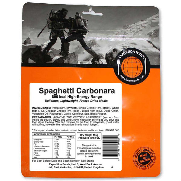Expedition Foods Spaghetti Carbonara (High Energy)