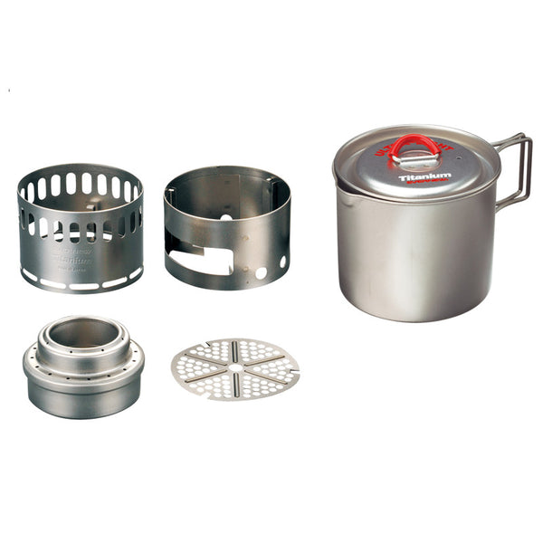 Evernew Appalachian Set - Ultralight Titanium Pot 500 Stove Set
